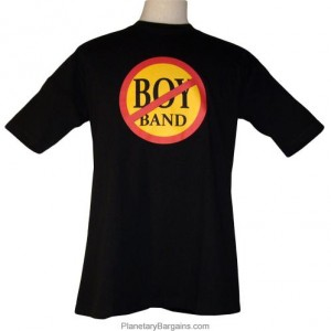 No Boy Bands Shirt Black Front